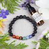 Aromatherapy Chakra Elastic Bracelet Kit with Sweet Orange Essential Oil - aromachakrabkit-3