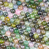 Cracked Agate 8mm Faceted Rounds in a Moss Green and Lavender Mix - 15.5 inch strand