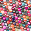 Cracked Agate 8mm Faceted Rounds in a Berry Mix - 15.5 inch strand