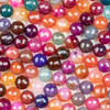 Cracked Agate 10mm Faceted Rounds in a Jewel Tone Mix - 15.5 inch strand