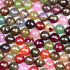 Cracked Agate 10mm Faceted Rounds in a Chocolate Cherry Mix - 15.5 inch strand
