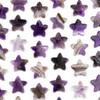 Amethyst 25x26mm Top Drilled Star Pendant - 1 per bag