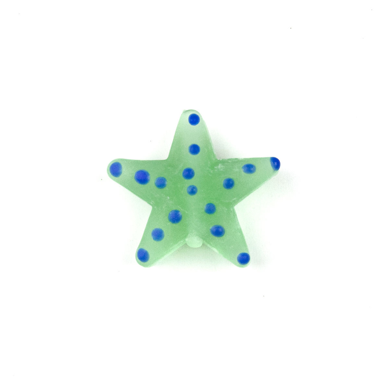 HANDMADE /'STARFISH/' BRIGHT BLUE GLASS LAMP WORK PENDANT