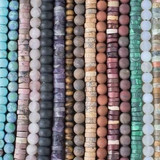 Large Hole Matte Gemstones
