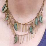 Brass 3 Strand Fringe Necklace