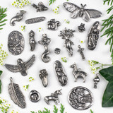 Pewter Focal Pieces by Green Girl Studios