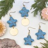 Lava Starfish Earrings