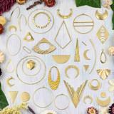 Raw Brass Jewelry Making Supplies