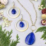 Lapis & Brass Jewelry