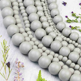 Grey Wood Beads