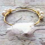 State Gold Bangle Bracelet