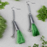 Pepper Stem Tassel Earrings