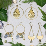 Fog Brass Earring Collection
