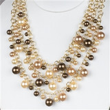 Shell Pearl Layered Necklace