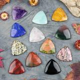 Triangle Gemstone Pendants