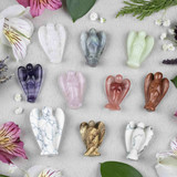 Gemstone Carved Angels