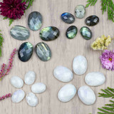 Faceted Moonstone & Labradorite Cabs