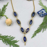 Sodalite and Brass Necklace