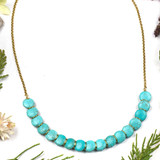 Turquoise Howlite Overlapping Coin Necklace
