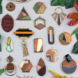 Mosaic Wood Pendants