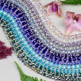 Crystal Heishi - 16 inch strands