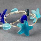 Sea Glass Starfish Bangle Bracelets