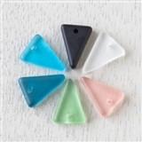 Matte Glass (Sea Glass Style) Triangle Pendants