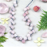 Large Hole Rose Quartz Necklace