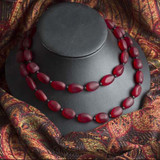 Dark Red Sea Glass Jewelry