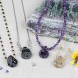 Rough Teardrop Necklaces