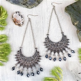 Silver and Crystal Statement Earrings