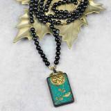 Tibetan Lotus Pendant Mala Necklace
