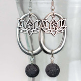 Aromatherapy Lava and Lotus Earrings