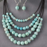 Turquoise Howlite and Amazonite Jewelry
