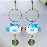 Lampwork Fish Earrings