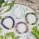 Gemstone Moon Bracelets