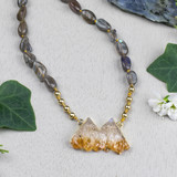 Citrine & Labradorite Knotted Necklace