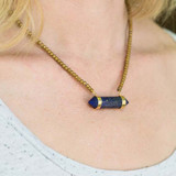 Lapis Point Pendant Necklace