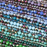 Crystal Rounds - 15 inch strands