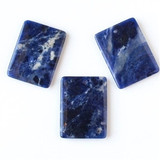 Gemstone Square, Rectangle, and Drum Pendants