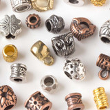 Large Hole Pewter Beads