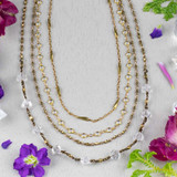 Brass Chain Layered Necklace