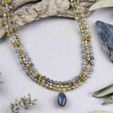 Illuminating & Gray 3 Strand Necklace