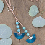 Turquoise Blue Bolo Necklace