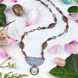 Copper Half Moon Necklace