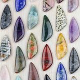 Triangular Freeform Gemstone Pendants