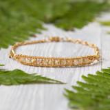 Tiny Gold Rutilated Bracelet