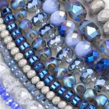 Crystal Beads - 15-16 inch strands