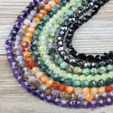 Star Cut Gemstone Beads