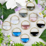 Gemstone Hoop & Triangle Components